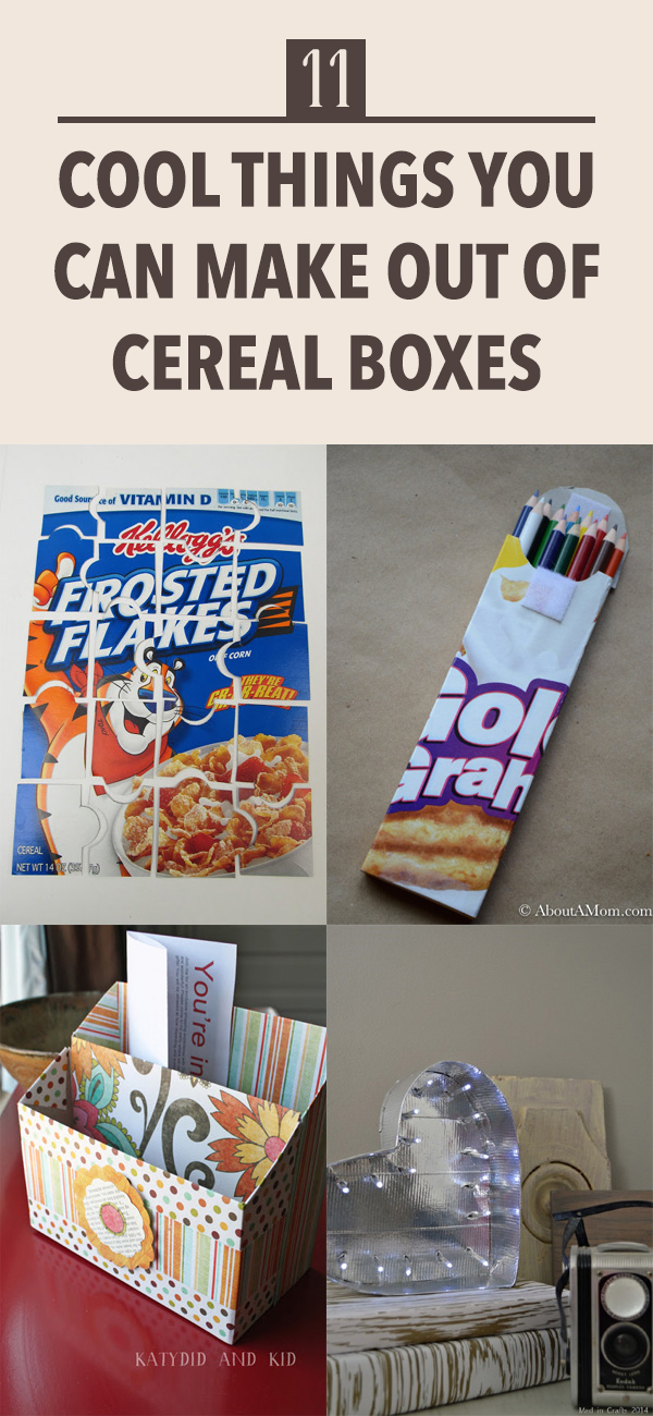 11 Cool Things You Can Make Out Of Cereal Boxes