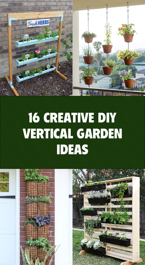 16 Creative DIY Vertical Garden Ideas