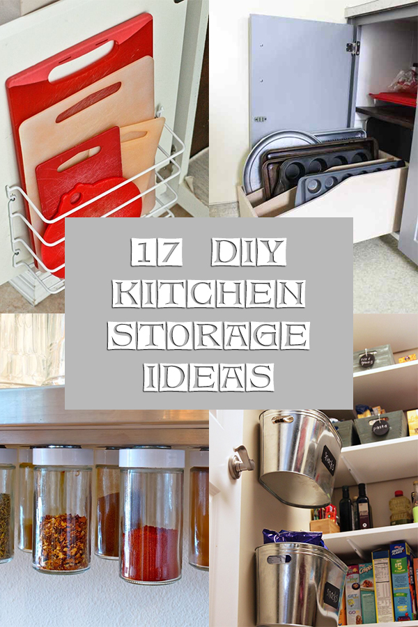 17 Creative DIY Kitchen Storage Ideas