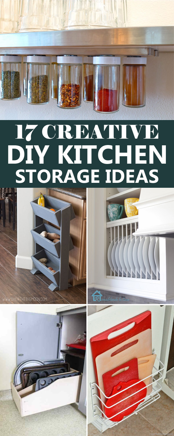 Diy Kitchen Storage Ideas Part - 16: 17 Creative DIY Kitchen Storage Ideas