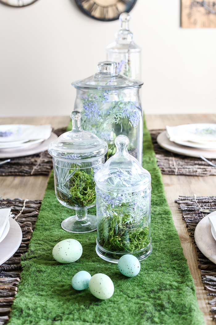 Apothecary Jar Terrarium Easter Centerpiece