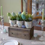 Bunnies and Burlap Easter Centerpiece