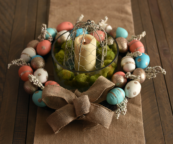 Easter Egg Candle Wreath
