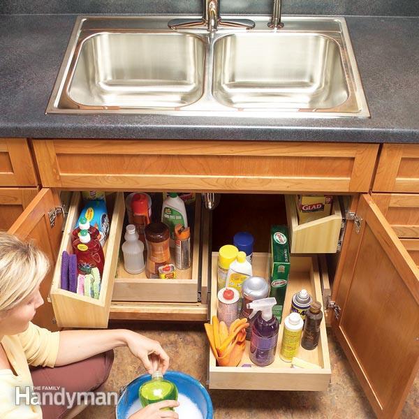 Kitchen Sink Storage Trays