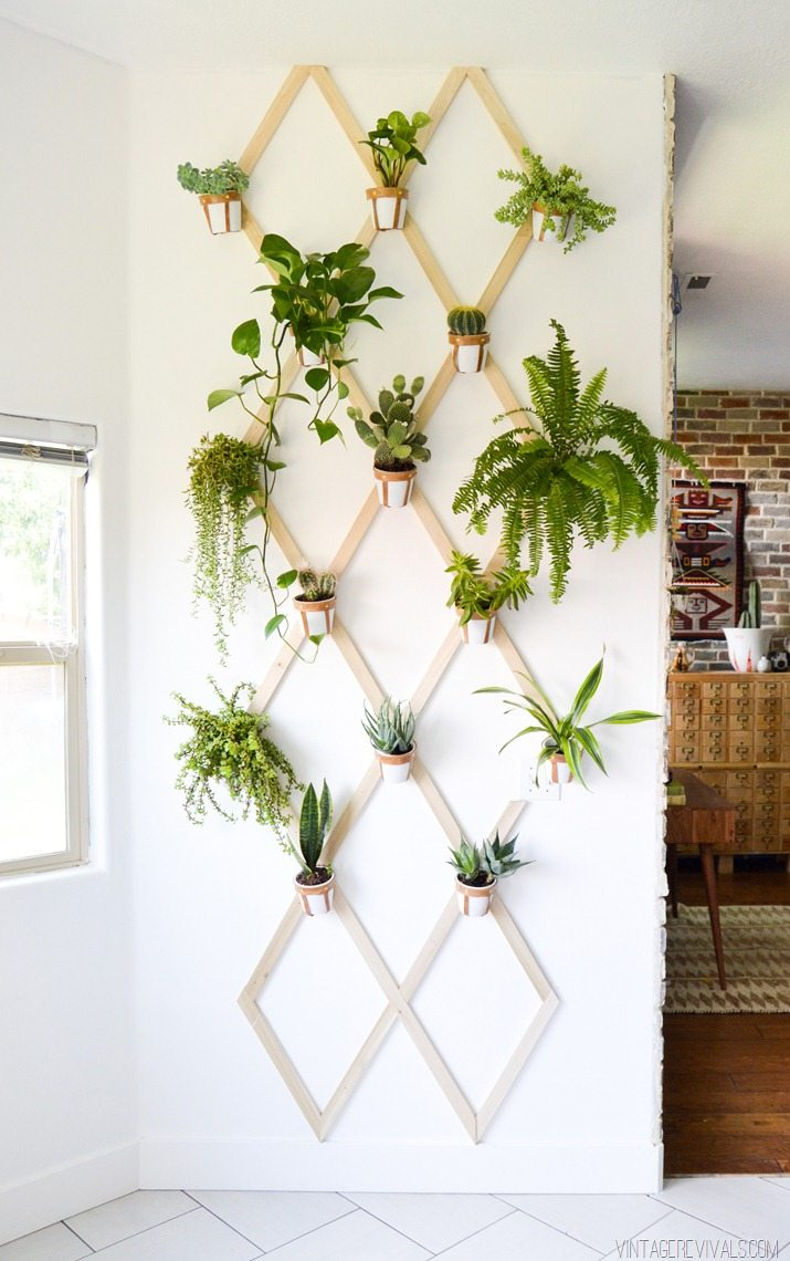 Leather and Wood Trellis