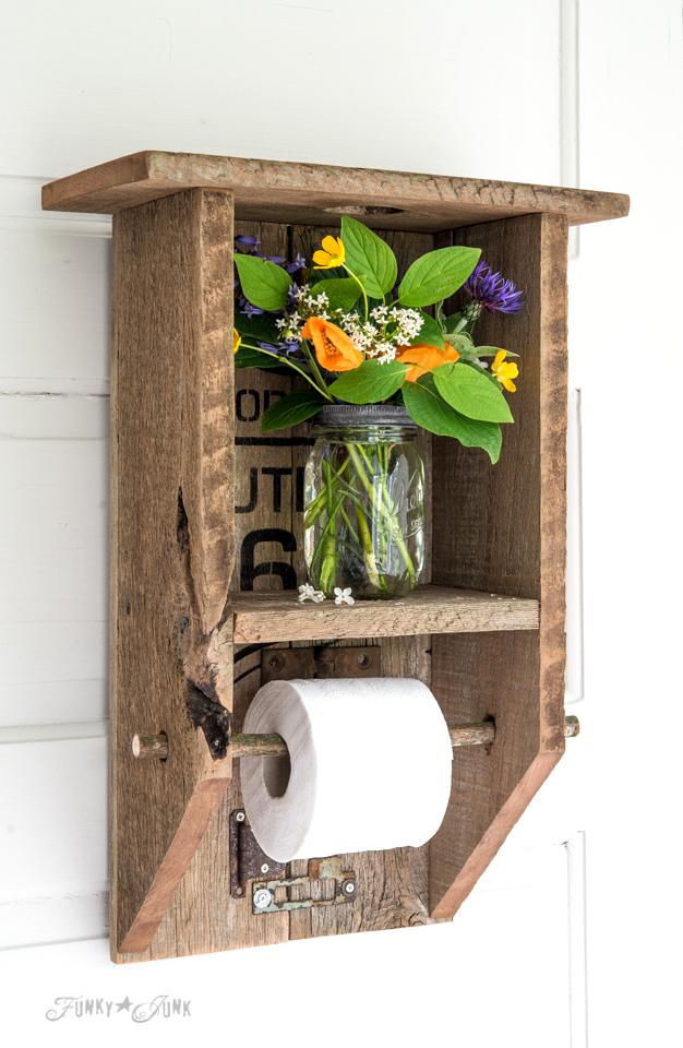 Reclaimed Wood Toilet Paper Holder