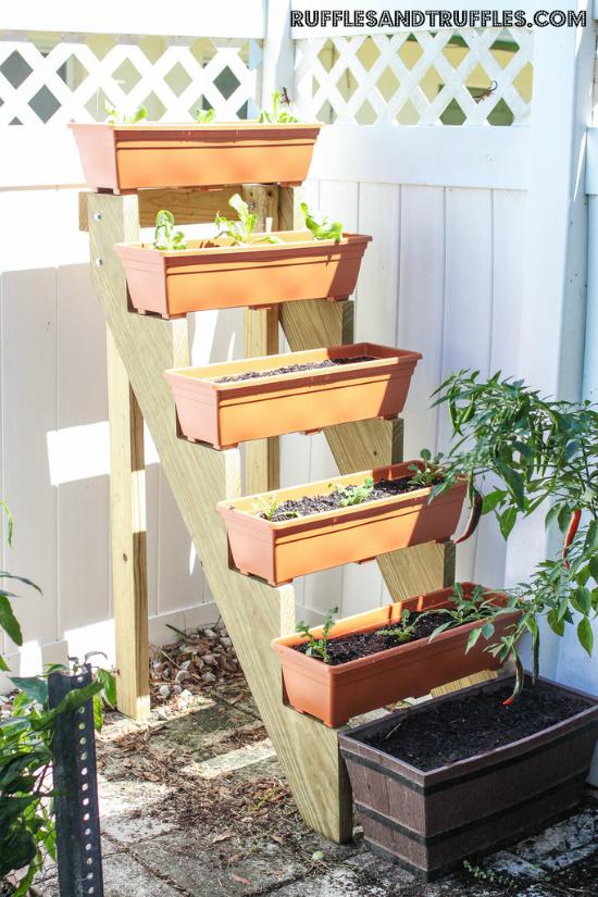 Stair Step Vertical Garden
