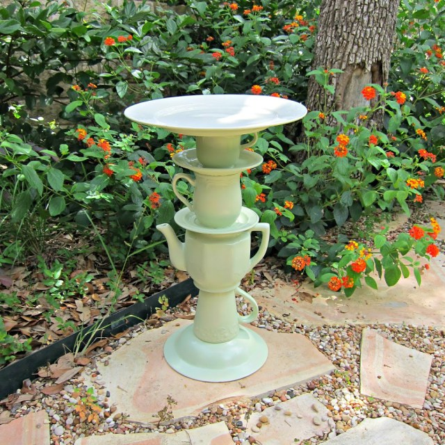 Tea Pot Bird Bath