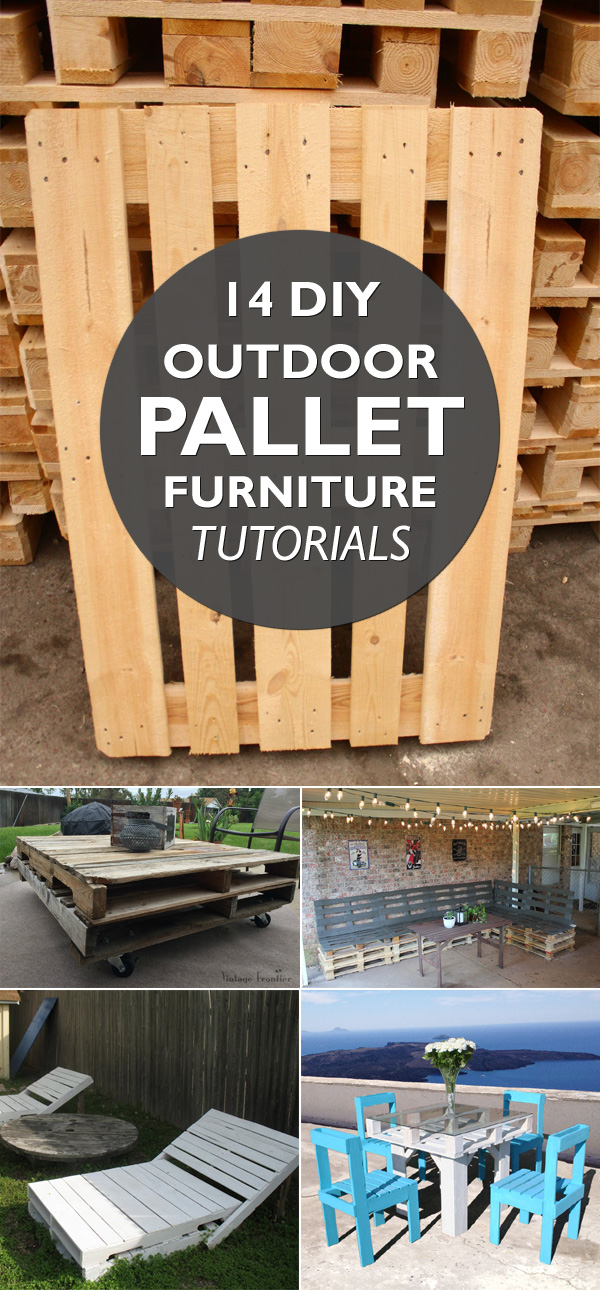 14 DIY Outdoor Pallet Furniture Tutorials
