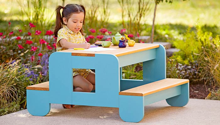 A Tiny Toddler Picnic Table