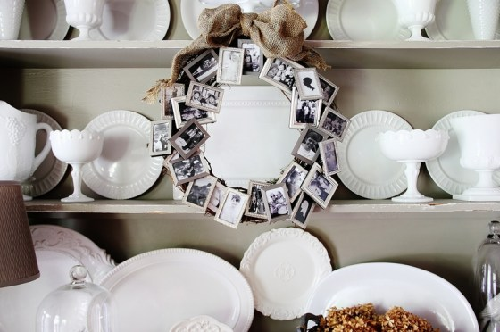 photo frame memory wreath