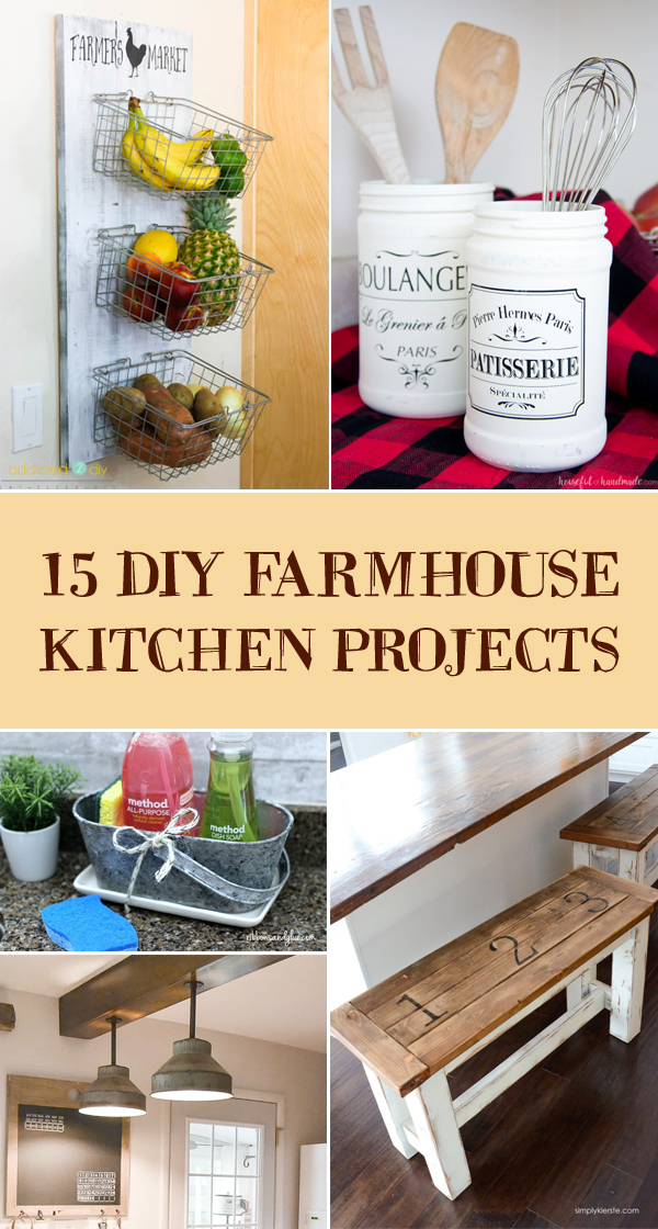 15 DIY Farmhouse Kitchen Projects