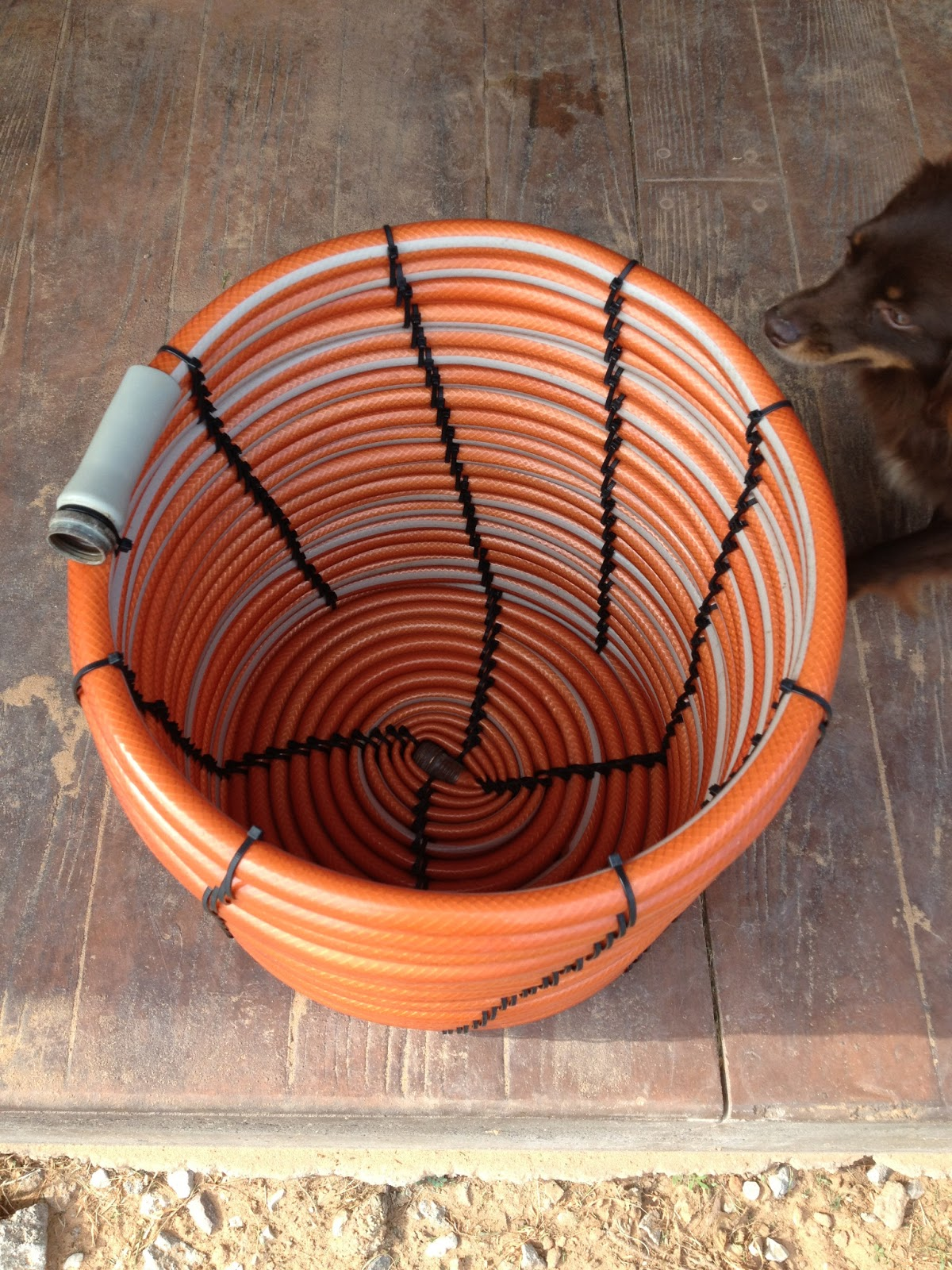 Basket from a Garden Hose