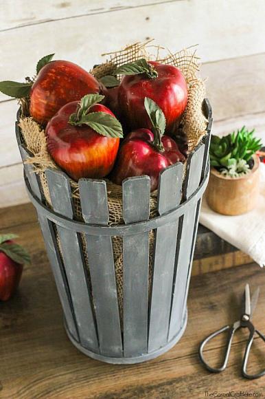 Paint Sticks Bushel Basket