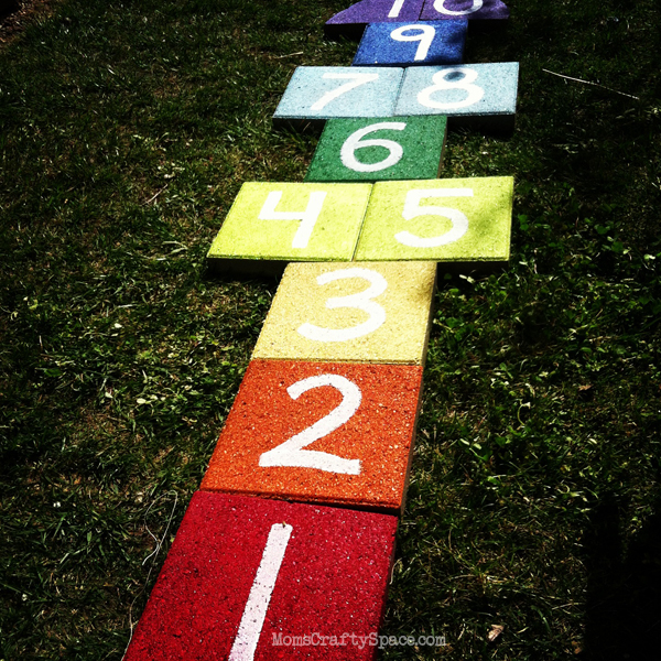 Rainbow Paver Hopscotch
