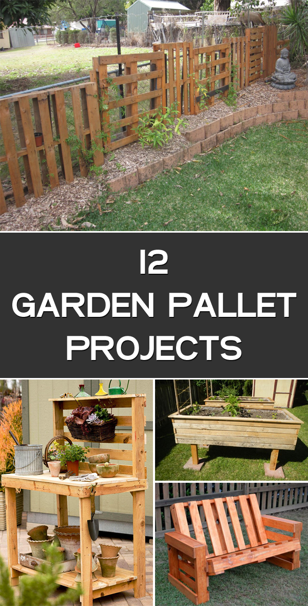 12 Garden Pallet Projects