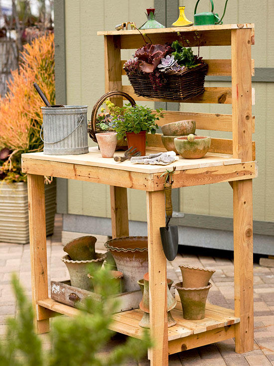 Pallet Potting Bench