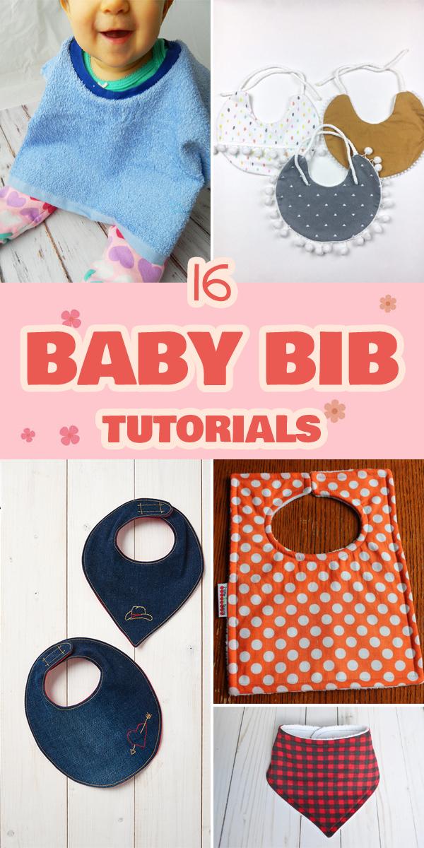 16 Baby Bib Tutorials