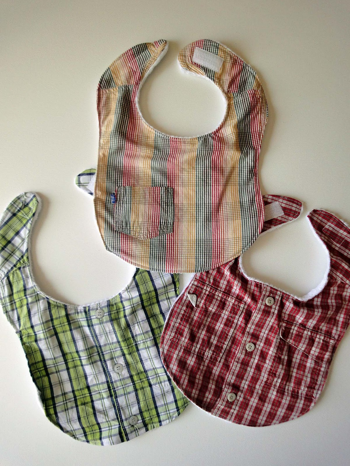 Baby Bibs out of old Shirts
