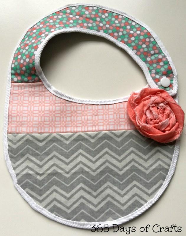 Fabric Flower Baby Bib