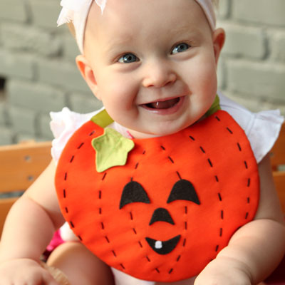 Little Pumpkin Baby Bib