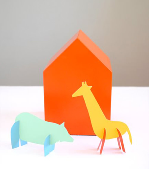 Paint Chip Animal Toys