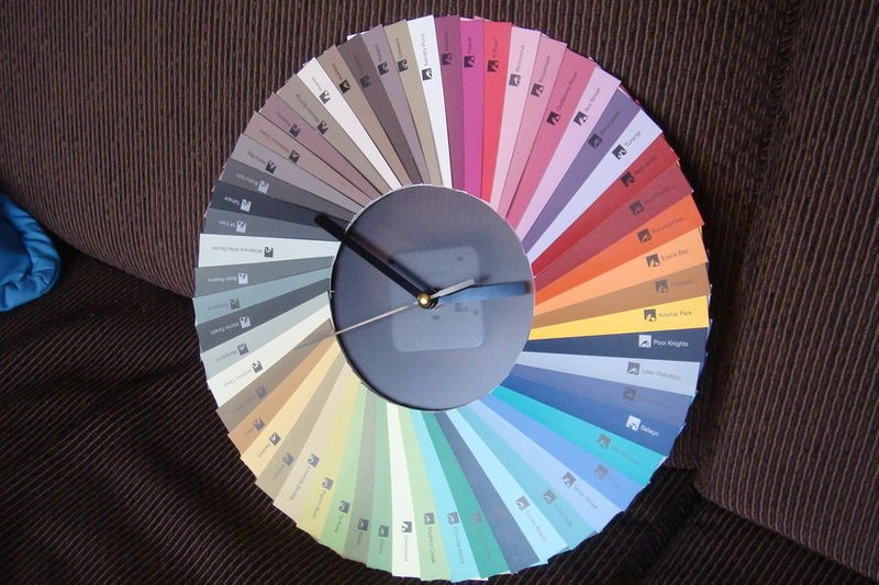 Paint Chip Clock