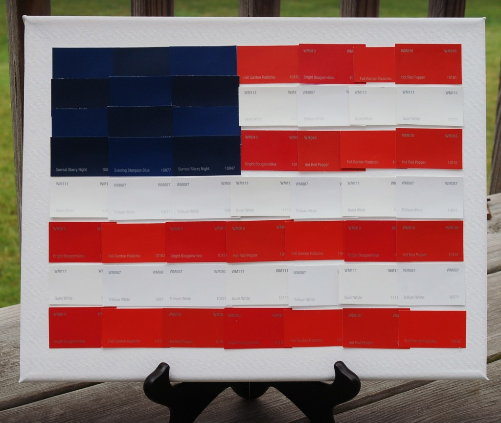 Paint Chip American Flag