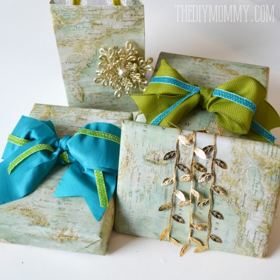 Wrap Presents in Vintage Maps