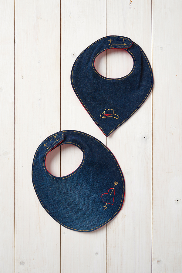 baby bibs from old jeans