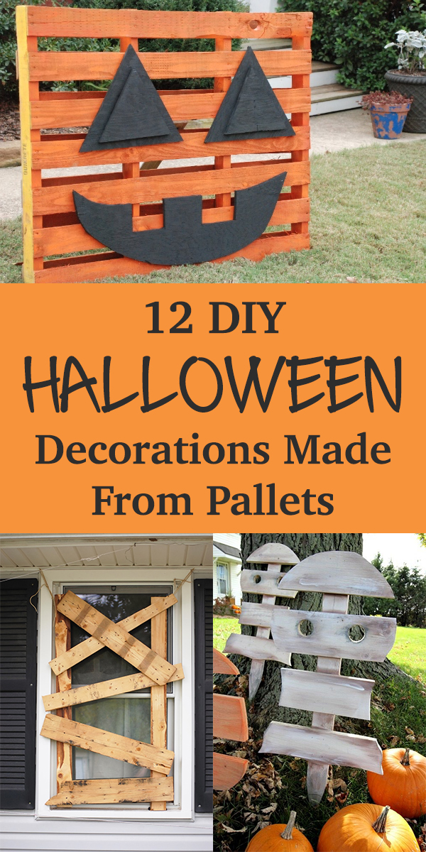 12 Awesome DIY Halloween Decorations Made From Pallets