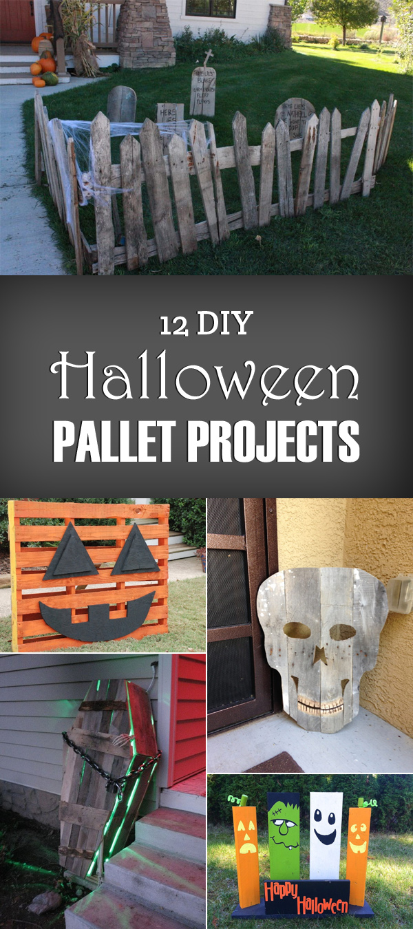 12 DIY Halloween Pallet Projects
