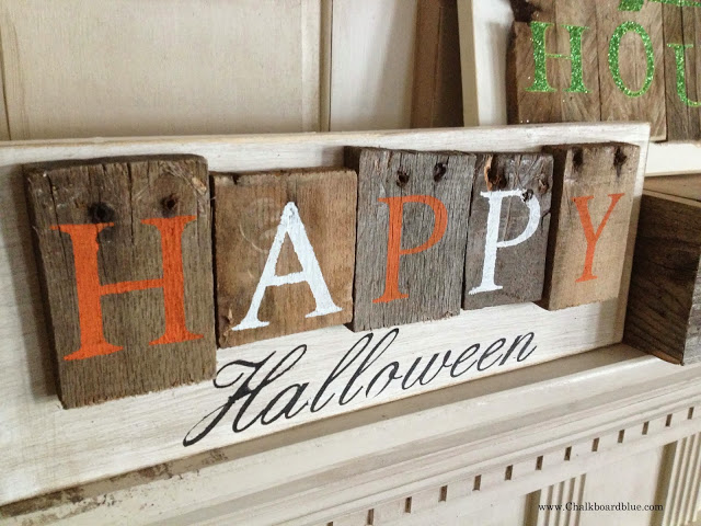 Halloween Wood Pallet Sign
