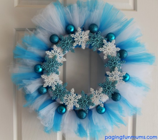Frozen Tutu Wreath