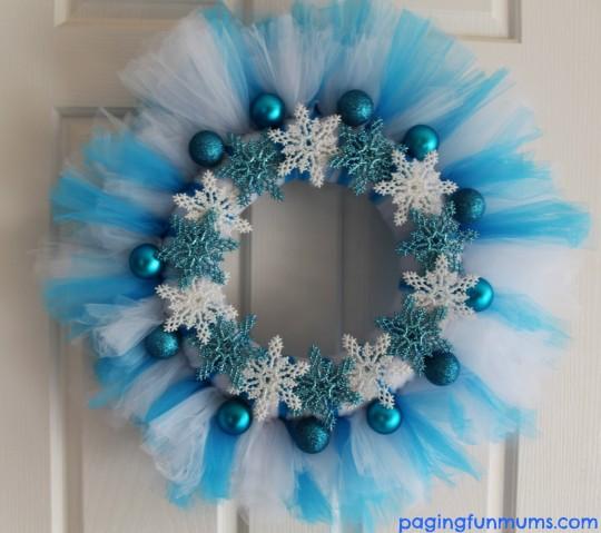 Frozen Tutu Wreath