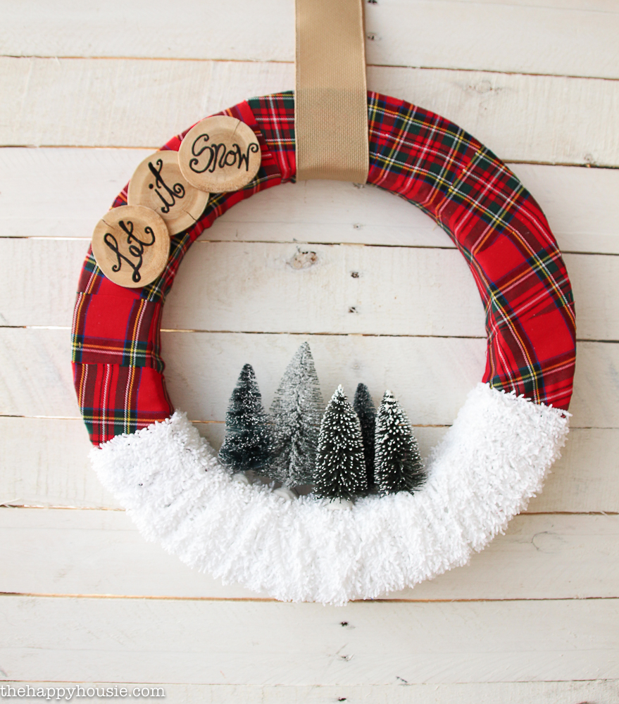 Let it Snow Holiday Wreath