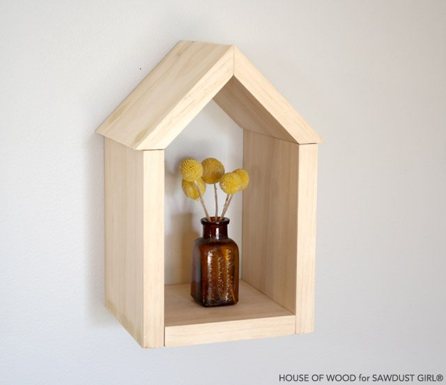 Scrap Wood House Shelf