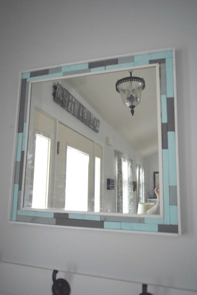 Wood Scrap Mirror Frame
