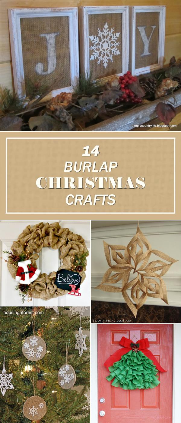 14 Beautiful Burlap Christmas Crafts