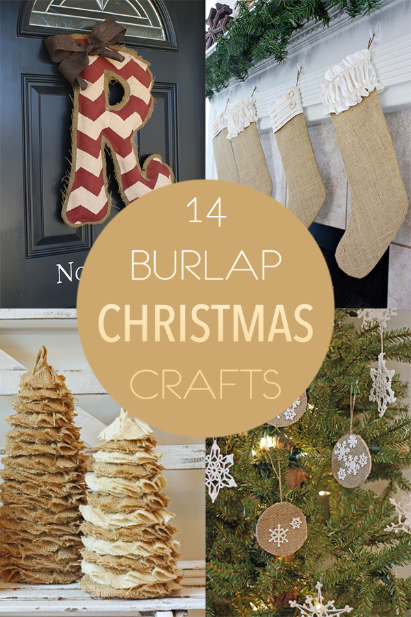 14 Burlap Christmas Crafts