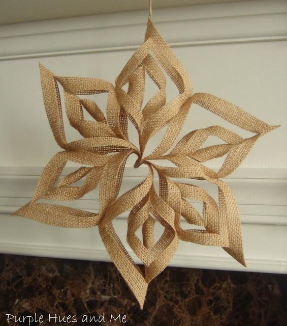 Burlap 3D Snowflake