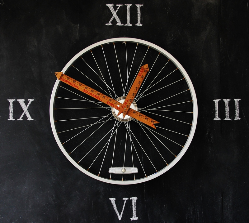 Bicycle Wheel Into Clock