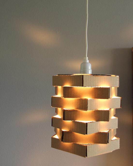 Cardboard Pendant Light