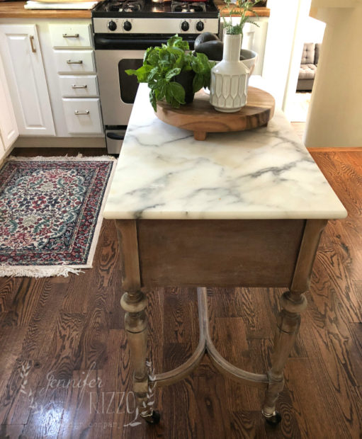 Sewing Table Into Kitchen Island