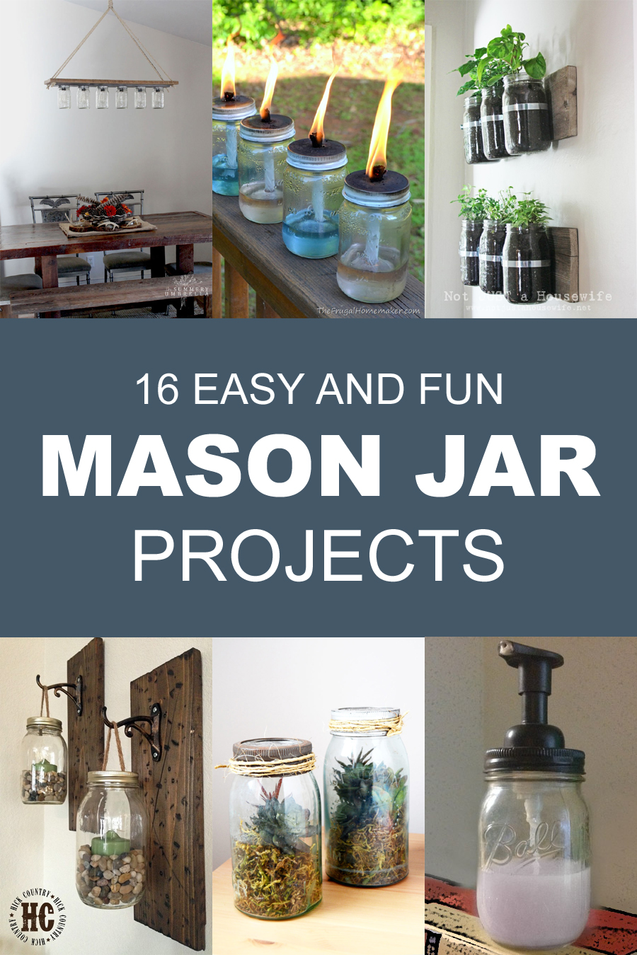 16 Easy And Fun Mason Jar Projects