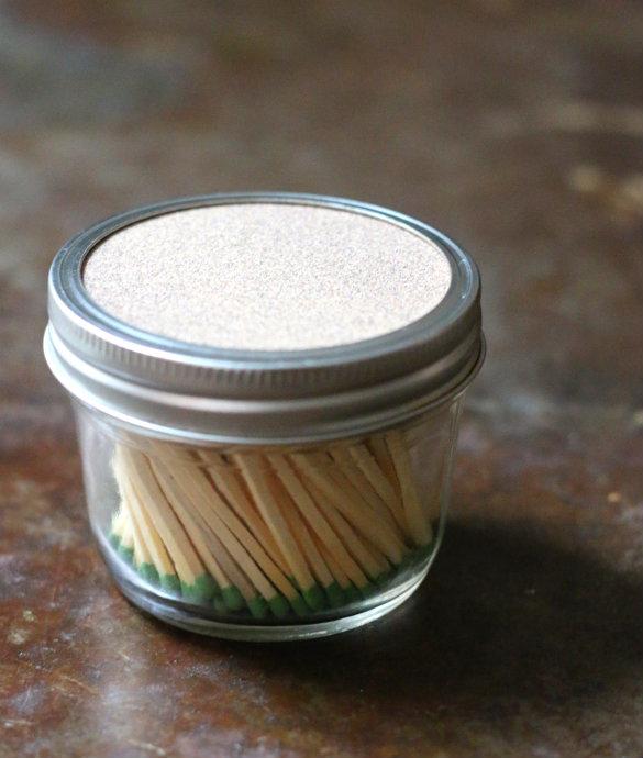 Mason Jar Match Holder