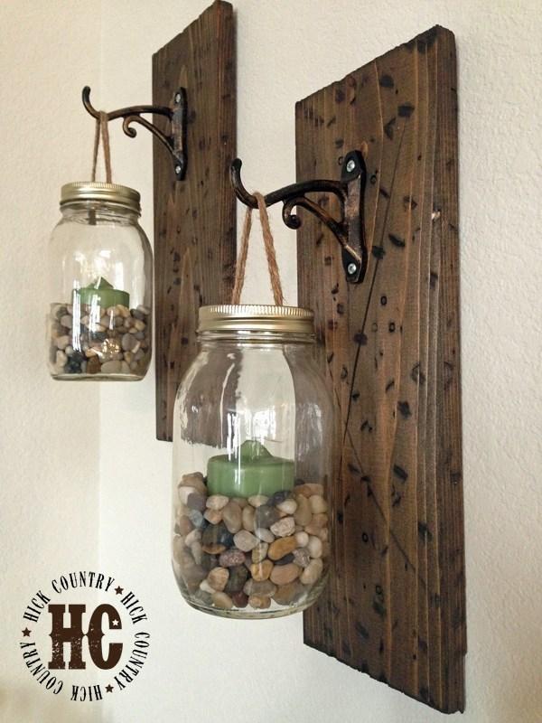 Mason Jar Wall Lanterns