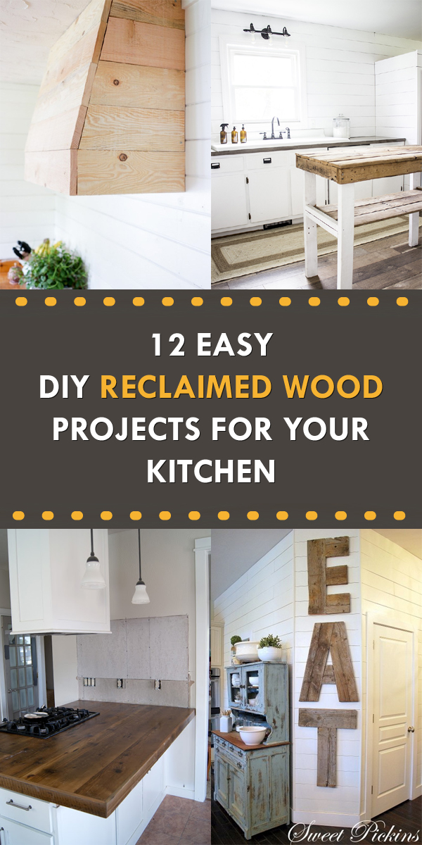 12 Easy DIY Reclaimed Wood Projects for Your Kitchen