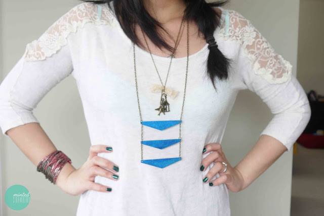 Geometric Triangle Ladder Necklace