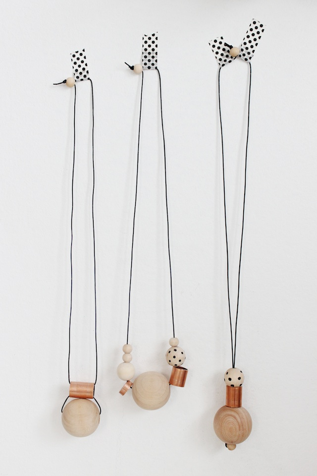 Wood and Copper Necklaces